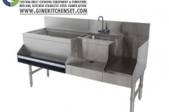 cocktail station stainless steel