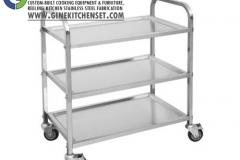 food trolley stainless steel denpasar