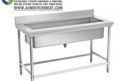 pot sink stainless steel kitchenset