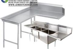 set dishwashing table stainless steel