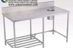 table garbage stainless steel