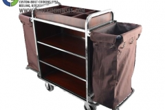 trolley room service stainless steel