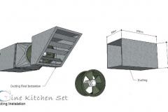 Ducting Production - Gine kitchen set - pusat produksi kitchen set di Bali