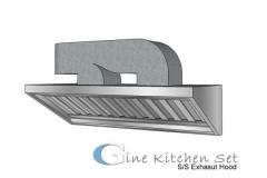 Exhaust produksi gine kitchen set Denpasar - Pusat produksi kitchen set di Bali