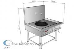 Kwalie Range Single - Gine Kitchen set production - Pusat produksi kitchen set di Bali
