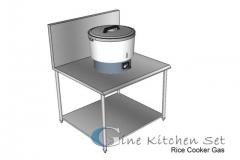 Rice cooker - Gine kitchen set production - Fabrikasi stainless di Bali