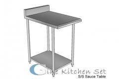 Sauce table - Gine kitchen set production - pusat fabrikasi stainless steel di Bali