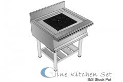 Stock pot - Gine kitchen set production - pusat fabrikasi stainless steel di Bali