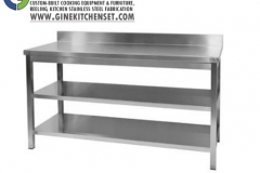 Working table stainless steel gine kitchen set denpasar