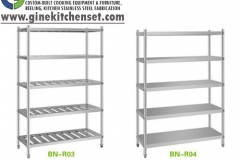 rack and shelf stainless steel gine kitchenset