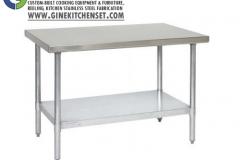 work table level 2 stainless steel gine kitchen set denpasar